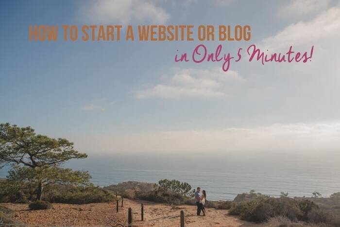 How to Start a Website or Blog in Only 5 Minutes!