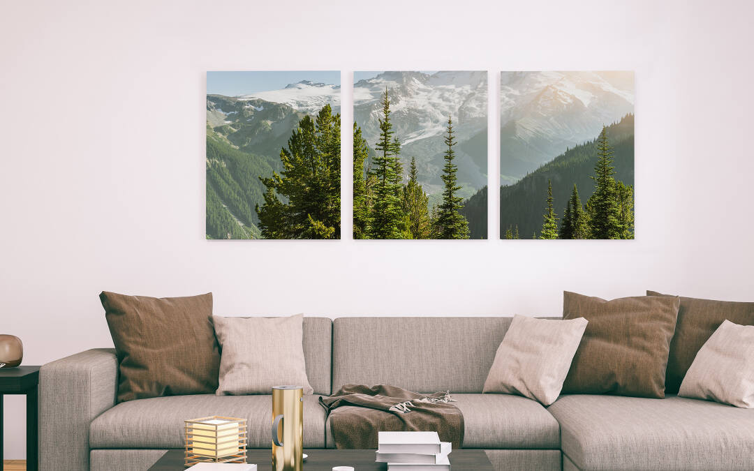A photo canvas triptych is a single image divided up across three gallery wrap canvases. It's the perfect way to create a stunning new look for any wall.