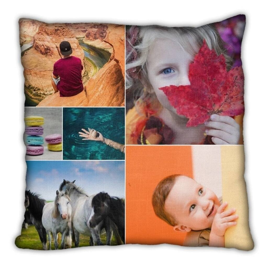 custom collage throw pillow
