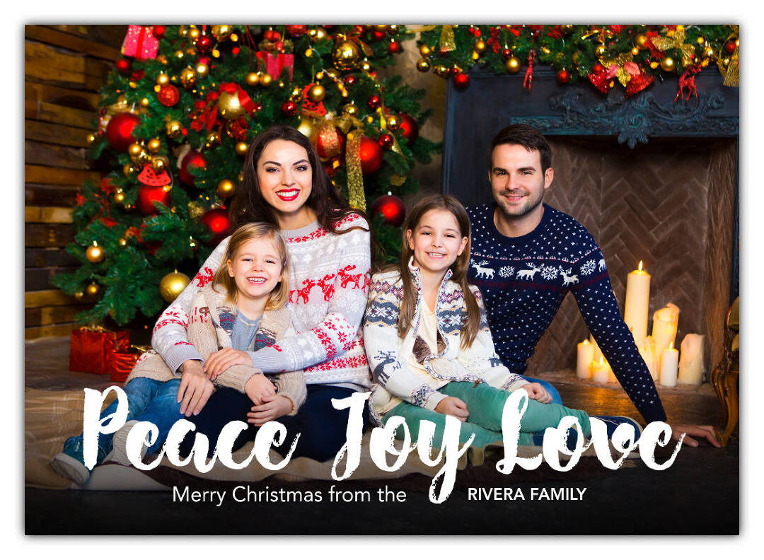 Create holiday cards, personalized photo christmas cards, custom photo cards with Collage.com