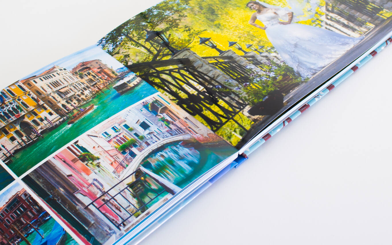 Upgrade to our super-premium lay-flat photo book
