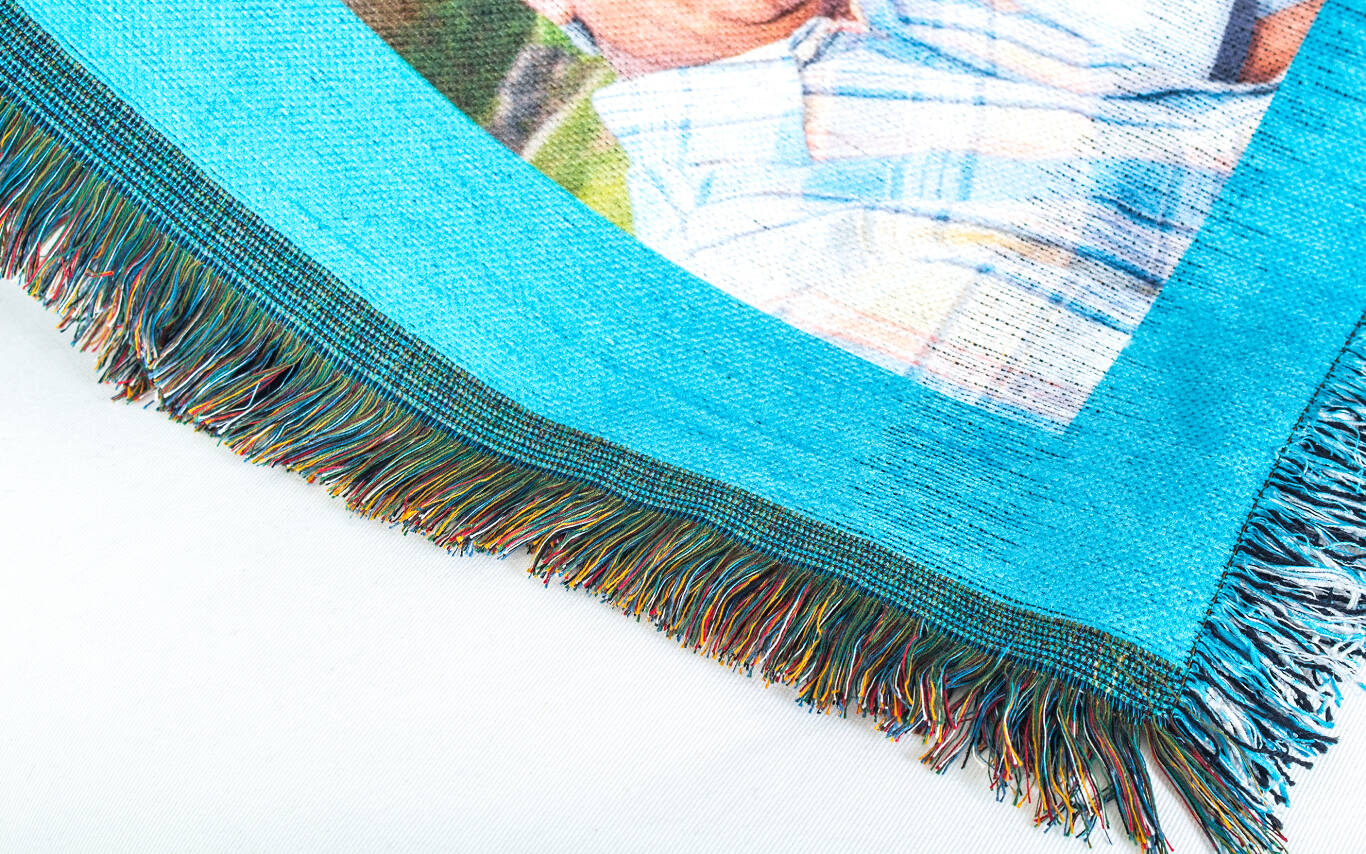 Colored tassels give our woven blankets a homespun feel you'll love.