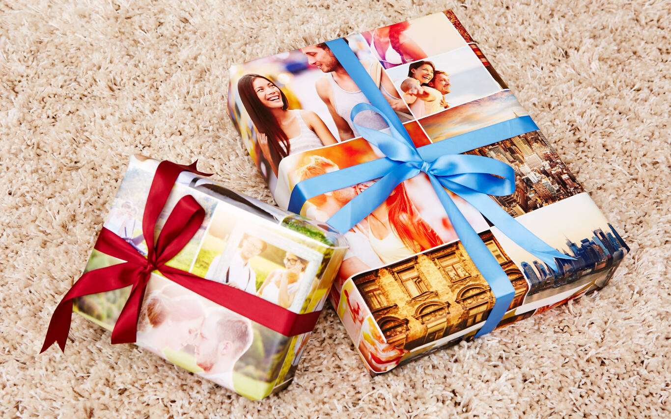 Custom gift wrap makes a statement before your gift is even opened