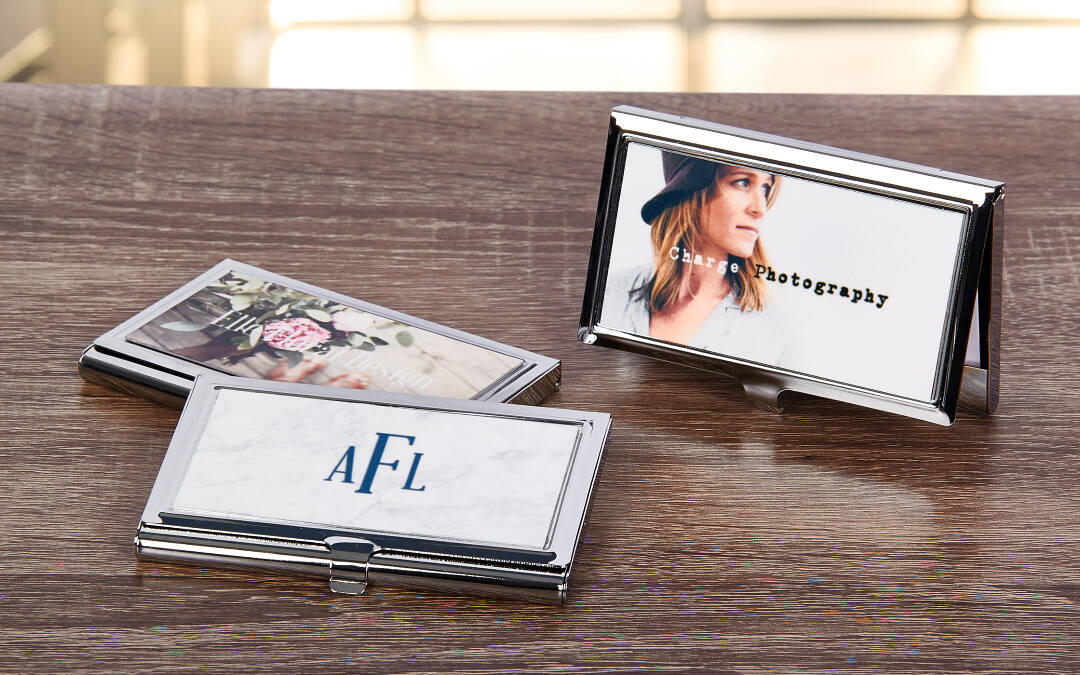 Personalized Business Card Holder | Collage.com