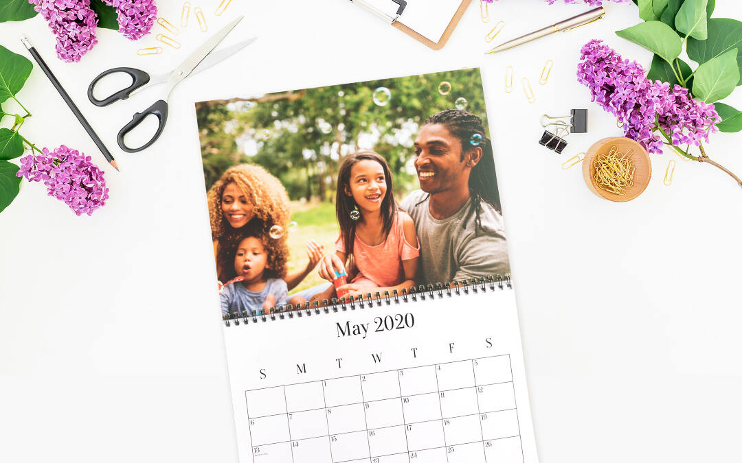 Our custom photo calendars feature premium-quality paper and a metal spiral binding. This is one personalized calendar that will look good long after 365 days have gone by. We still recommend a new calendar next year, however.