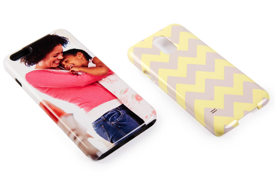 Design your custom phone case however you'd like. Our tools make it easy to import photos from your phone, computer, Facebook, or Instagram. You can add text or create your own custom patterns and monograms.