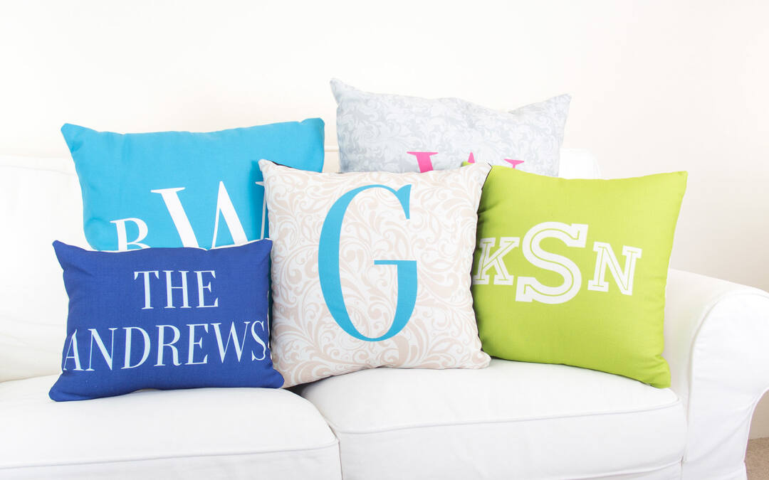 Unlike some sites, we don't charge extra to add a bespoke monogram to your pillow. Our Monogram Creator lets you create your own monogram using classic fonts and easy-to-use design tools.