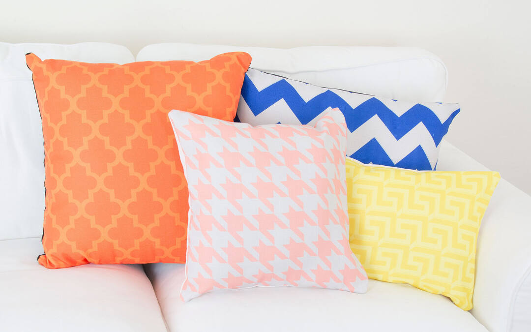 Our Pattern Builder makes it so easy to pick your favorite colors, choose a stylish pattern, and then instantly apply it to your pillows. Why drive all over town looking for the right pillow when you can design it to order with Collage.com?