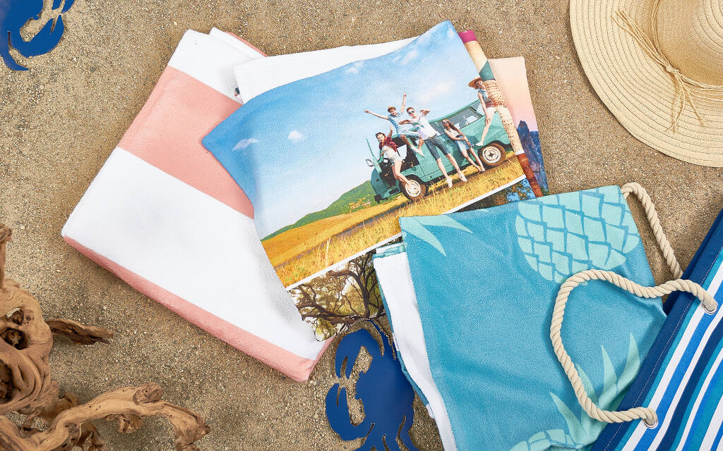 beach towel. It s easy to make the perfect photo towel  Add text and backgrounds Resize your Create Custom Photo Beach Towels Collage com