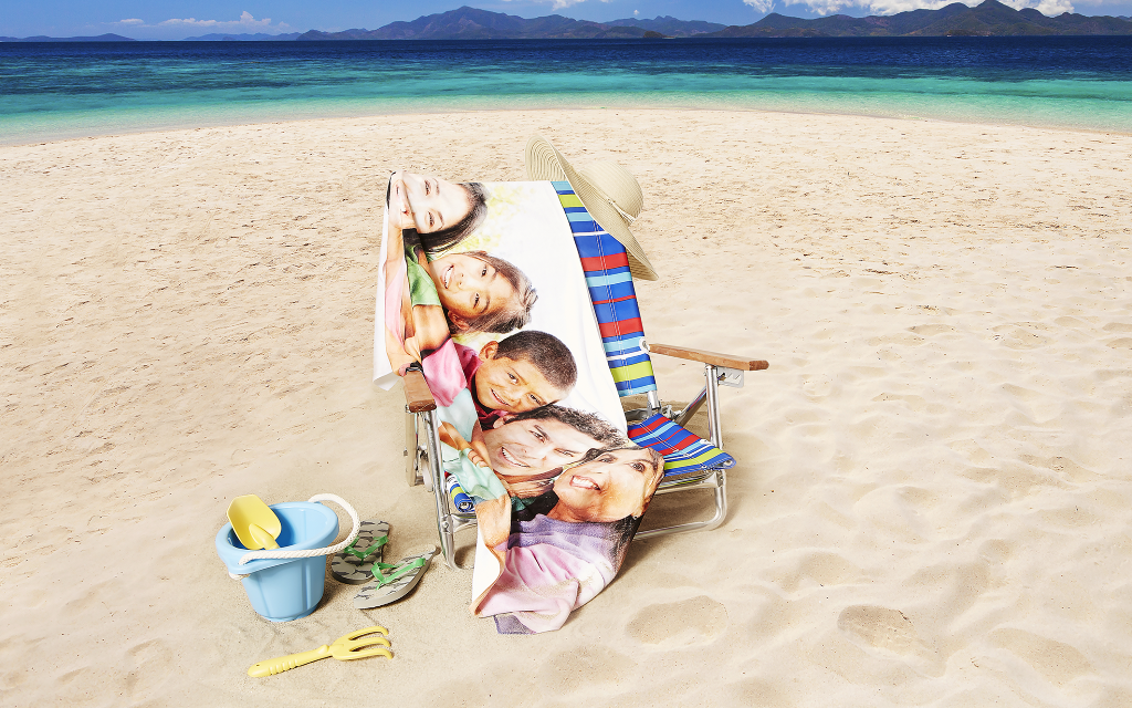 Personalized Photo Beach Towels by Collage.com