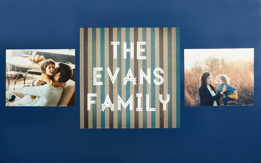 photo wall decals | collage