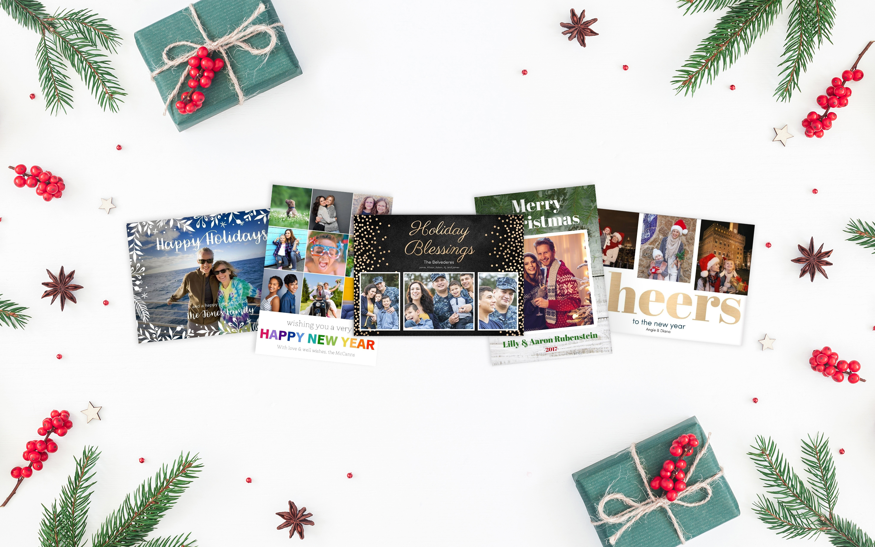Photo Cards Custom Greeting Cards Holiday Cards Collage