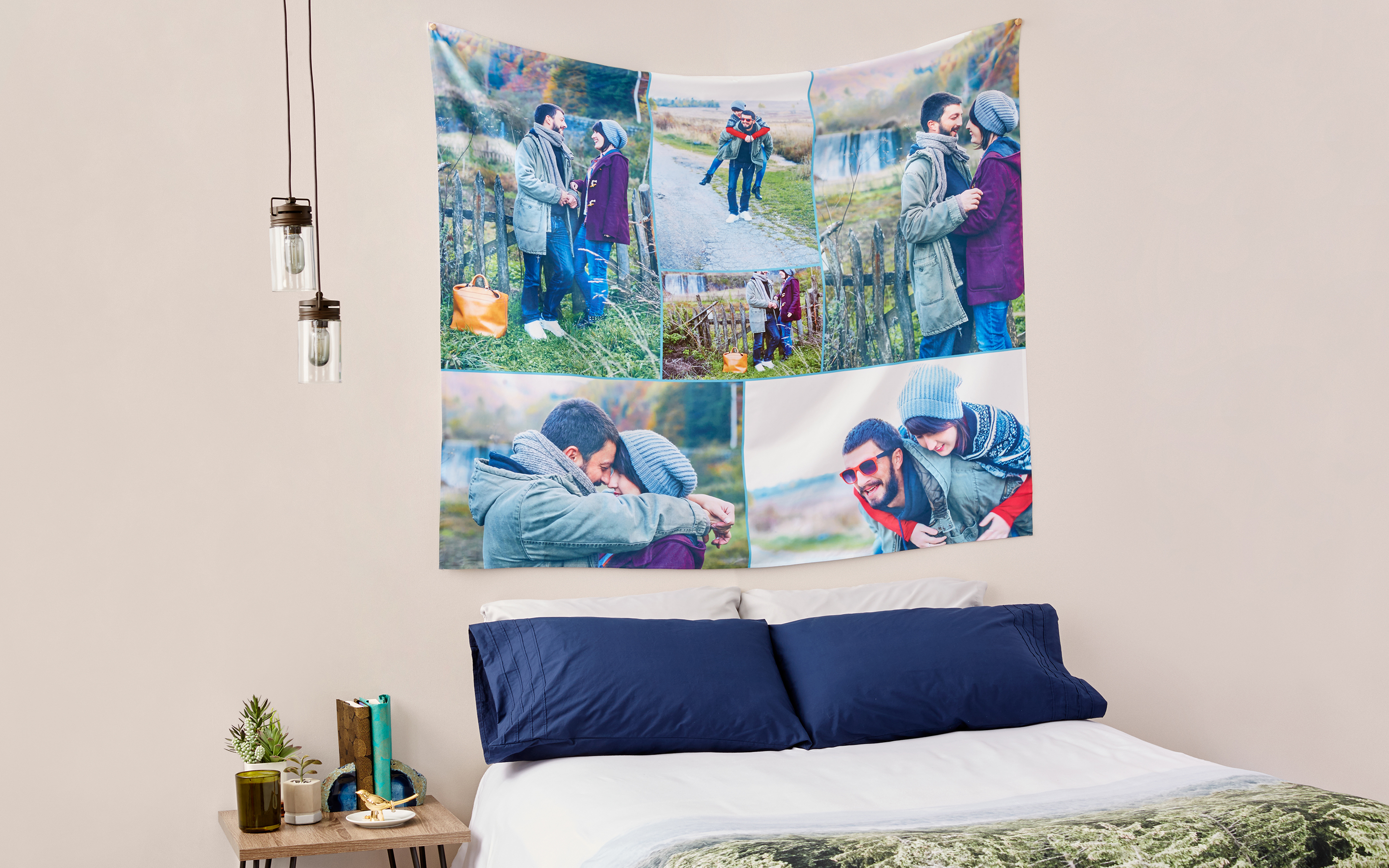 custom photo tapestries collagecom - Bedroom Tapestry